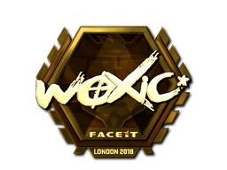 Sticker | woxic (Gold) | London 2018