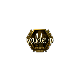 Sticker | v4lde (Gold) | London 2018