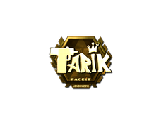 Skin Sticker | tarik (Gold) | London 2018