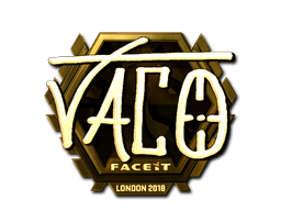 Sticker | TACO (Gold) | London 2018
