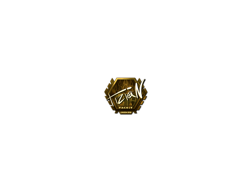 Sticker | tiziaN (Gold) | London 2018
