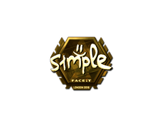 Skin Sticker | s1mple (Gold) | London 2018
