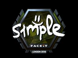 Наклейка | s1mple (металлическая) | Лондон 2018