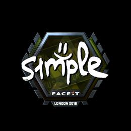 s1mple (Foil) | London 2018