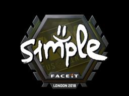 Sticker | s1mple | London 2018