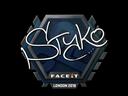 Sticker | STYKO | London 2018