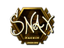 Skin Sticker | Snax (Gold) | London 2018