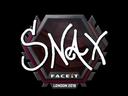 Sticker   Snax   London 2018