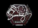 Sticker | somebody | London 2018