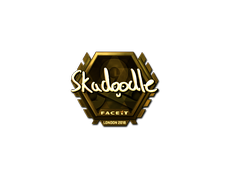 Skin Sticker | Skadoodle (Gold) | London 2018