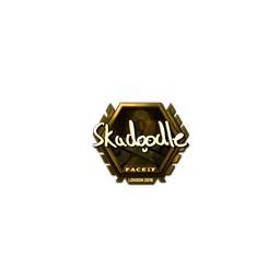 Sticker | Skadoodle (Gold) | London 2018