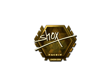 Skin Sticker | shox (Gold) | London 2018