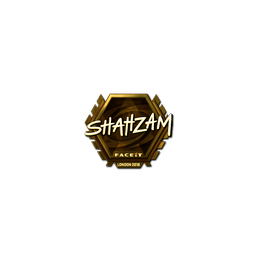 Sticker | ShahZaM (Gold) | London 2018