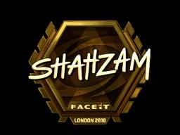 Sticker   ShahZaM (Gold)   London 2018