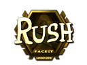 Sticker | RUSH (Gold) | London 2018