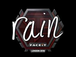 Sticker | rain | London 2018