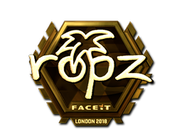 Sticker | ropz (Gold) | London 2018