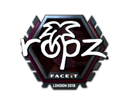 Sticker | ropz (Foil) | London 2018