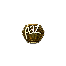 Sticker | paz (Gold) | London 2018