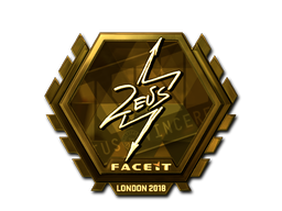 Sticker | Zeus (Gold) | London 2018