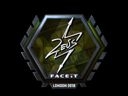 Sticker | Zeus (Foil) | London 2018