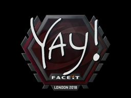 Sticker | yay | London 2018