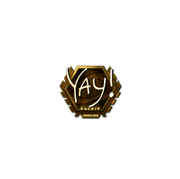 Sticker | yay (Gold) | London 2018