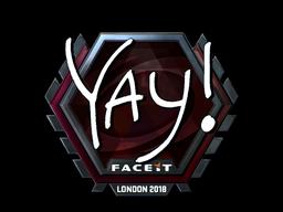 Sticker | yay (Foil) | London 2018