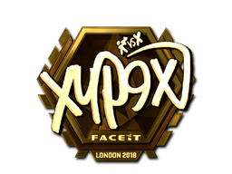 Sticker | Xyp9x (Gold) | London 2018