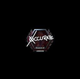 Sticker | xccurate (Foil) | London 2018