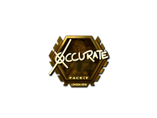 Skin Sticker | xccurate (Gold) | London 2018