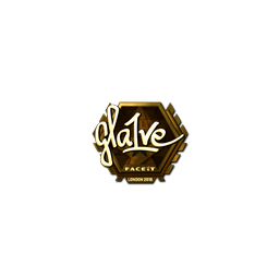 Sticker | gla1ve (Gold) | London 2018