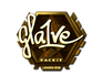 Skin Sticker | gla1ve (Gold) | London 2018