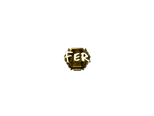 Sticker | fer (Gold) | London 2018