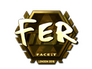 Skin Sticker | fer (Gold) | London 2018