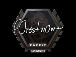 Наклейка | f0rest | Лондон 2018