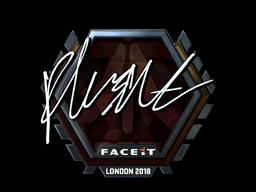 Sticker | flusha (Foil) | London 2018