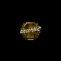 Sticker | electronic (Gold) | London 2018
