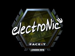 Sticker | electronic (Foil) | London 2018
