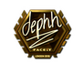 Skin Sticker | dephh (Gold) | London 2018