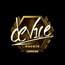 device (Gold) | London 2018