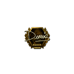 Sticker | dennis (Gold) | London 2018