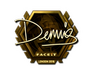Skin Sticker | dennis (Gold) | London 2018