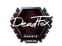 Sticker | DeadFox (Foil) | London 2018