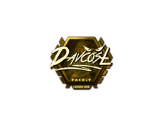 Skin Sticker | DavCost (Gold) | London 2018