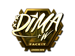 Sticker | Dima (Gold) | London 2018