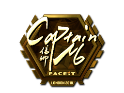 Sticker | captainMo (Gold) | London 2018