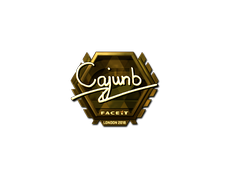 Skin Sticker | cajunb (Gold) | London 2018