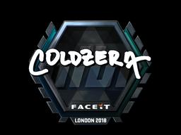 Наклейка | coldzera (металлическая) | Лондон 2018