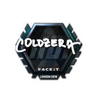 Sticker | coldzera (Foil) | London 2018